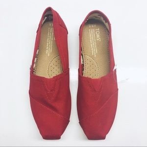 Classic Red Canvas Toms